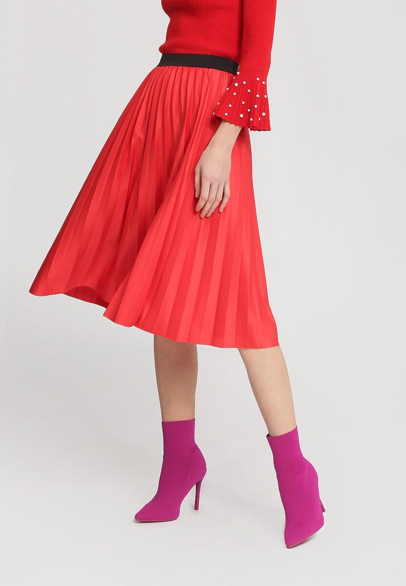 Czerwona Spódnica Pleated Story