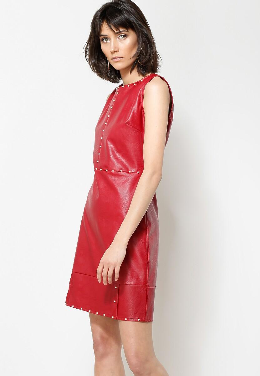 Bordowa Sukienka Something Good