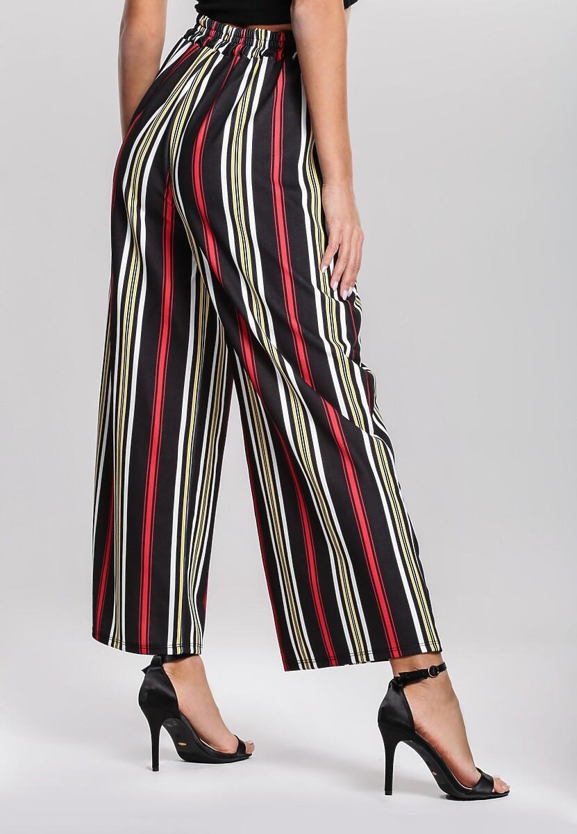 Czarno-Czerwone Spodnie Be Satisfied