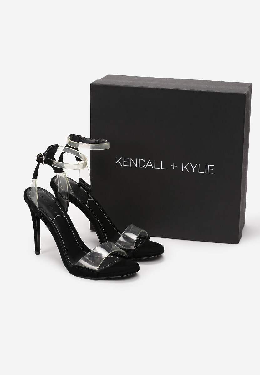 Czarne Sandały Kendall + Kylie See Through