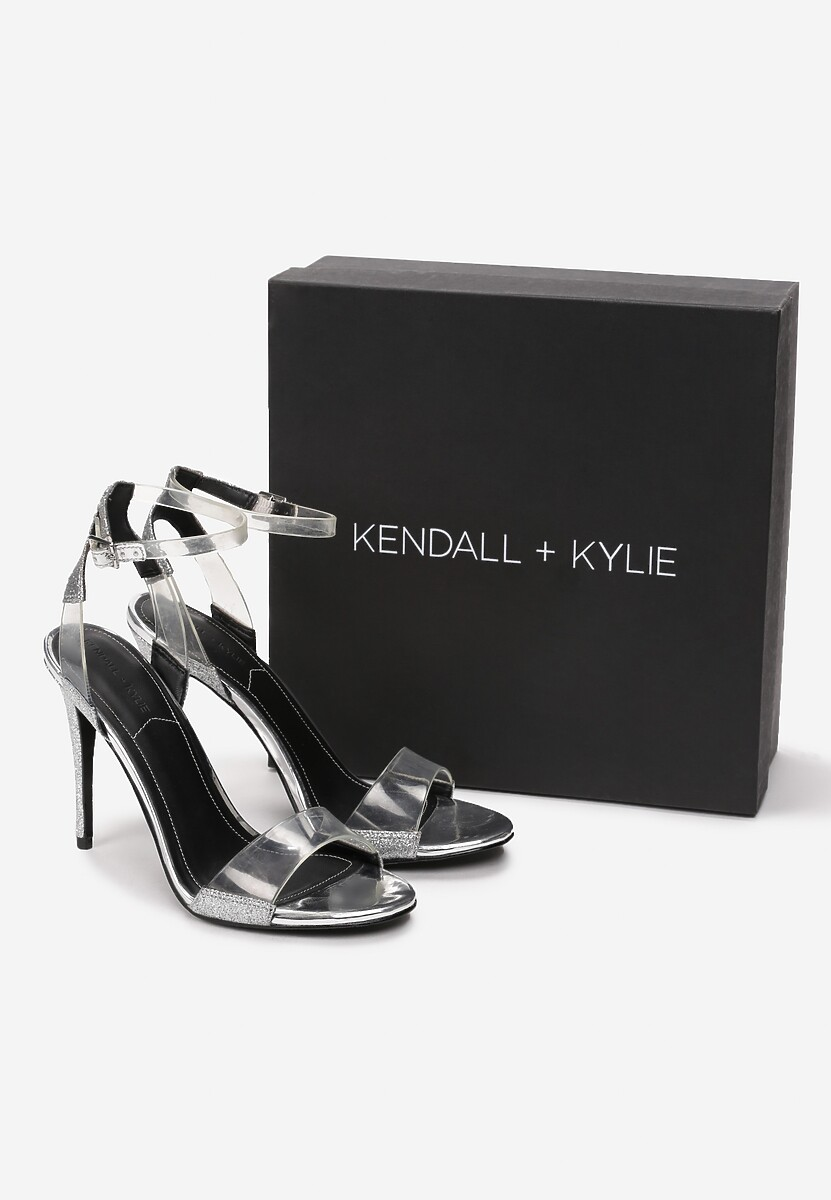 Srebrne Sandały Kendall + Kylie See Through Kod produktu: 41238