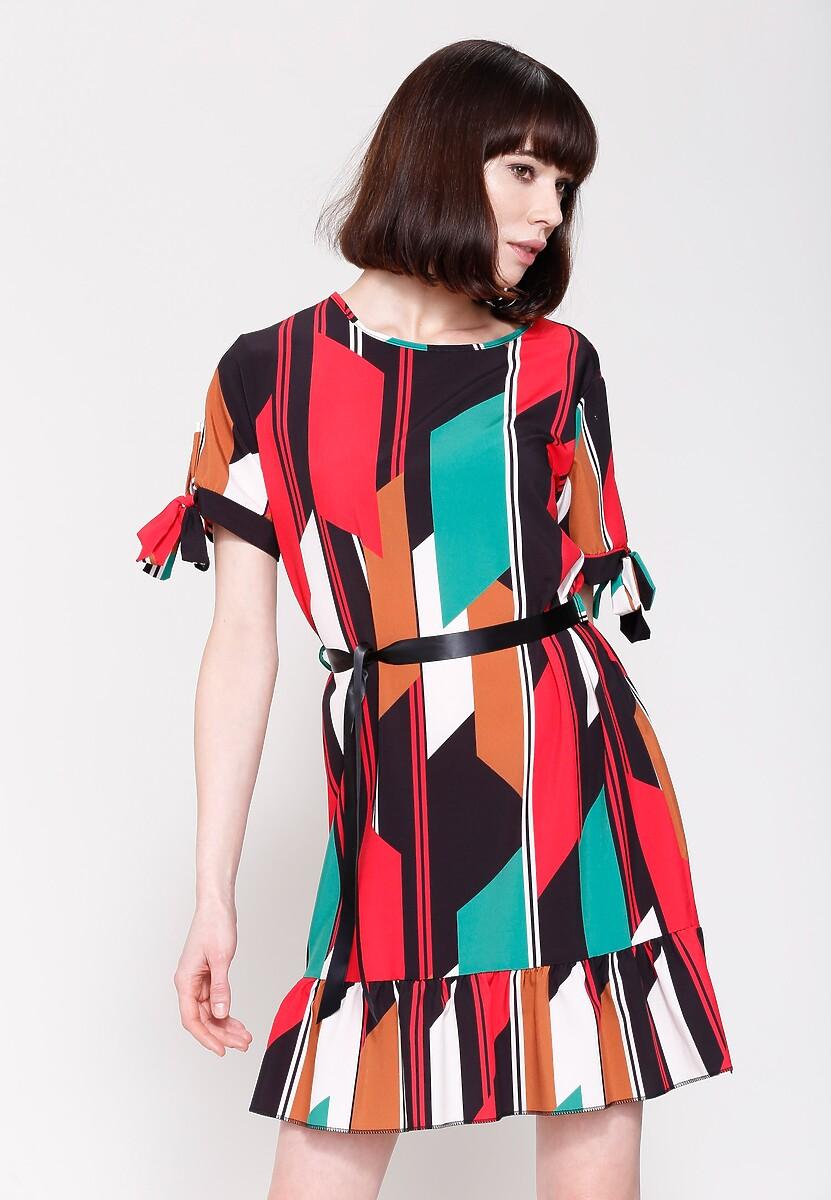 Czerwona Sukienka Colourfull Wind