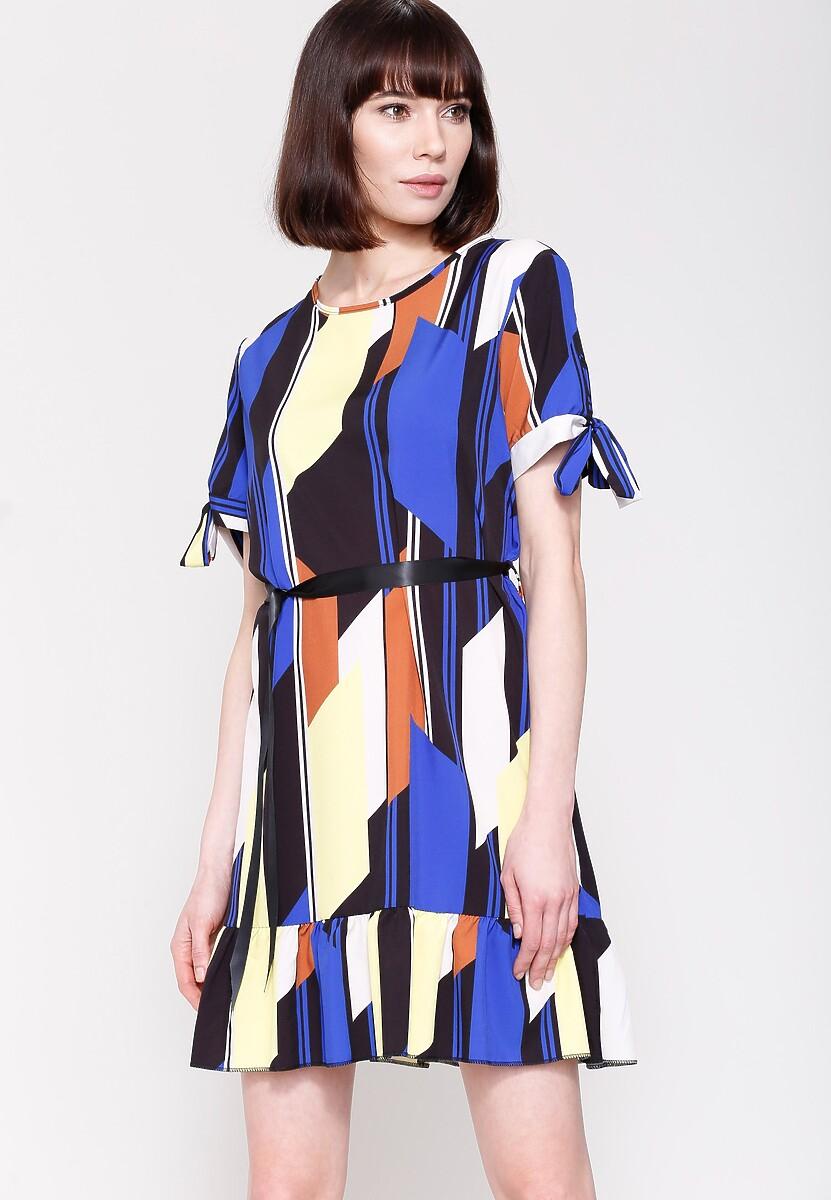 Ciemnoniebieska Sukienka Colourfull Wind