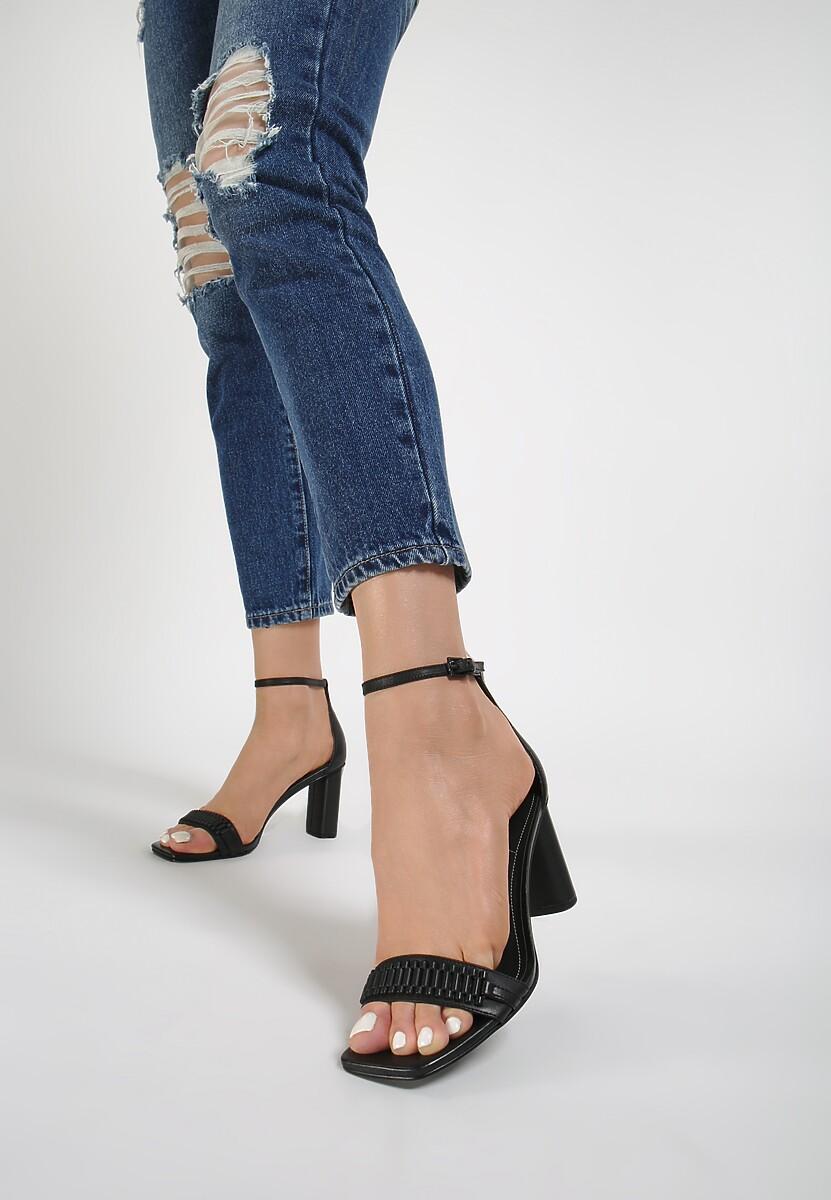 Czarne Sandały Kendall + Kylie Glamourous