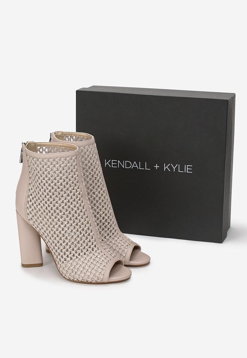 Beżowe Botki Kendall + Kylie Openwork