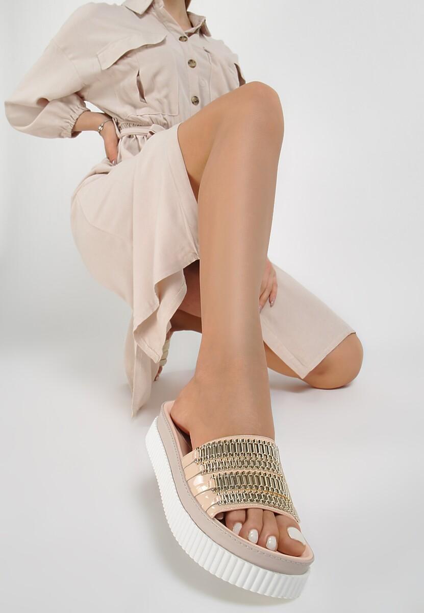 Beżowe Klapki Kendall + Kylie Gleaming Kod produktu: 40759
