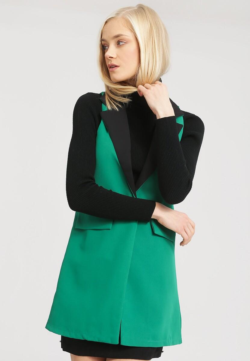 Zielona Kamizelka Art Deco