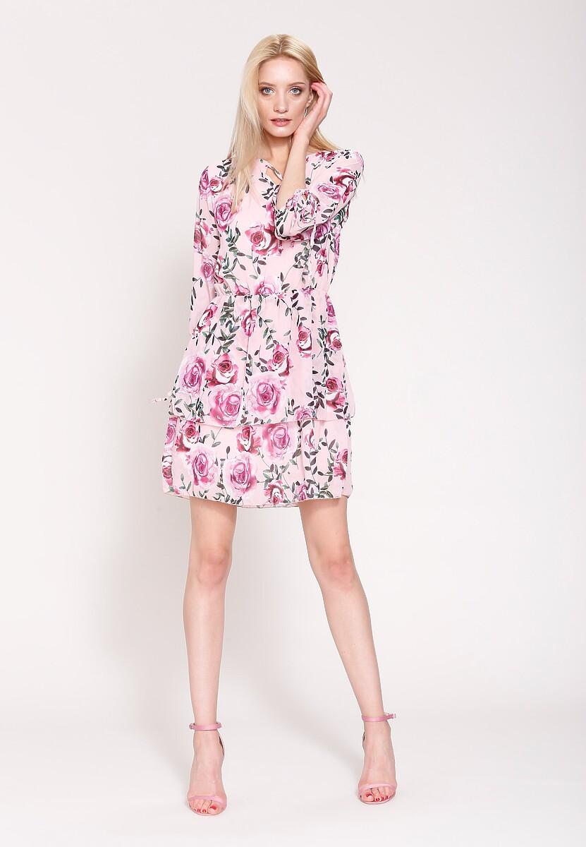 Różowa Sukienka Magical Flowers