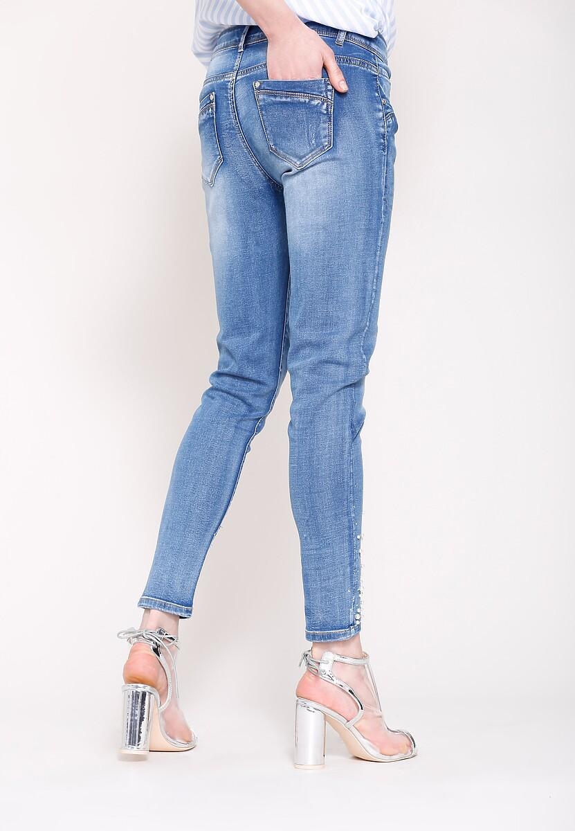 Niebieskie Jeansy Rise Up