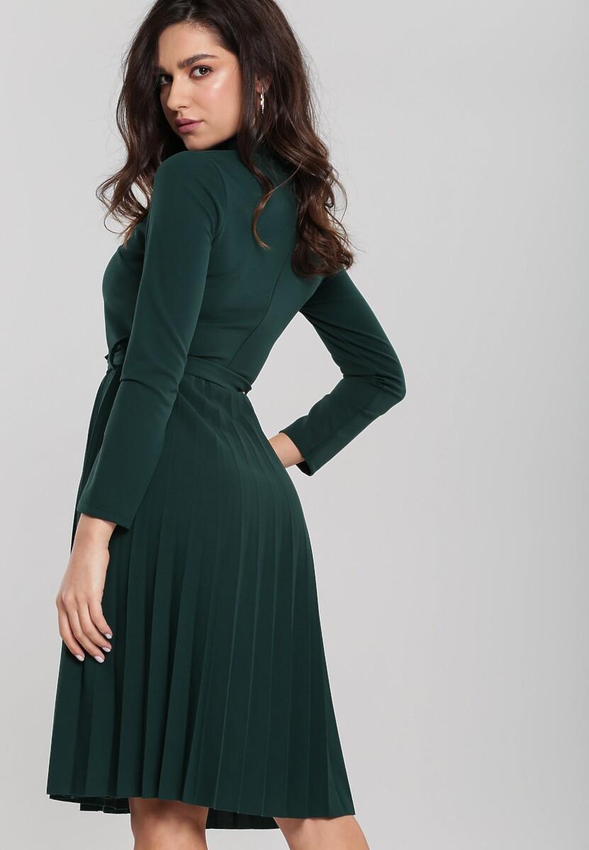 Ciemnozielona Sukienka For You
