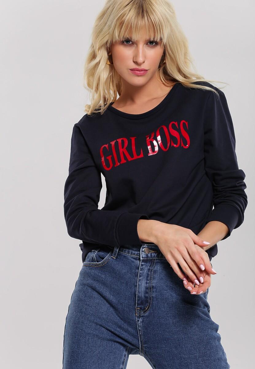 Granatowa Bluza Girl Rule