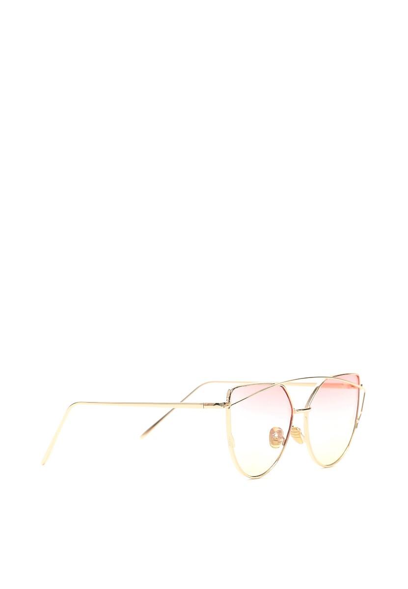 Złoto-fuksjowe Okulary Pudding