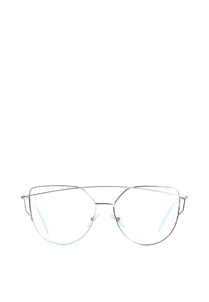 Srebrno-niebieskie Okulary Pudding