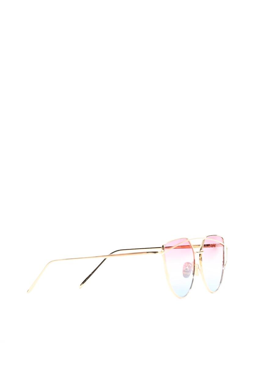 Złoto-różowe Okulary Pudding