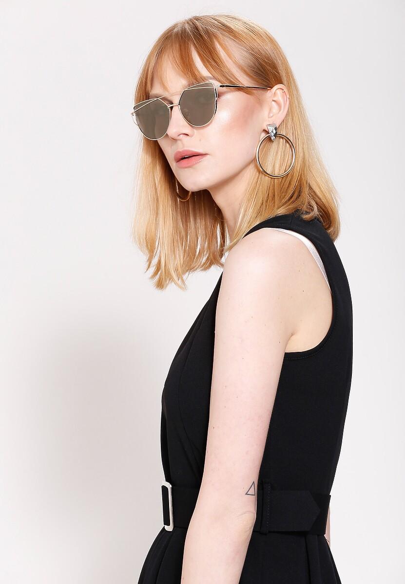 Złoto-szare Okulary Pudding