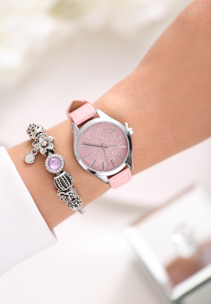 Jasnoróżowy Zegarek For Those Who Love