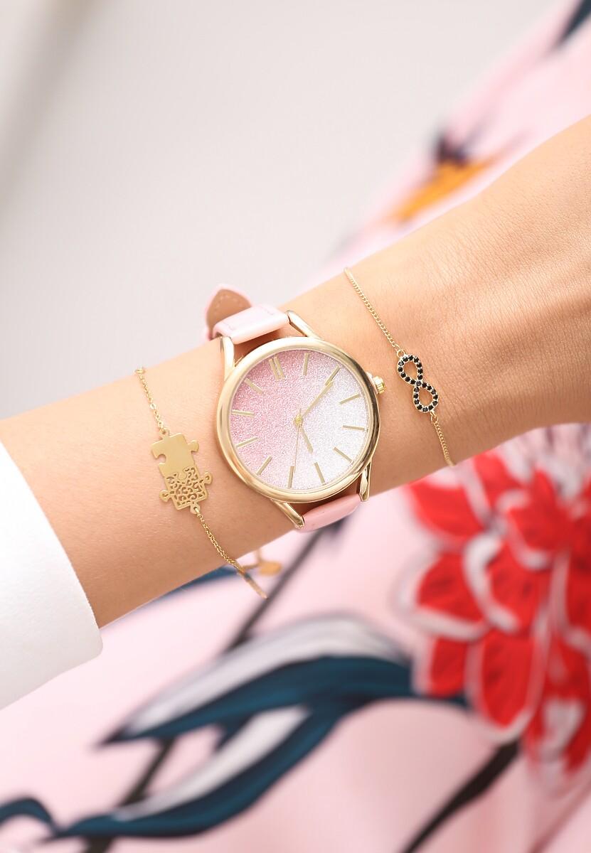 Jasnoróżowy Zegarek Enough Theory