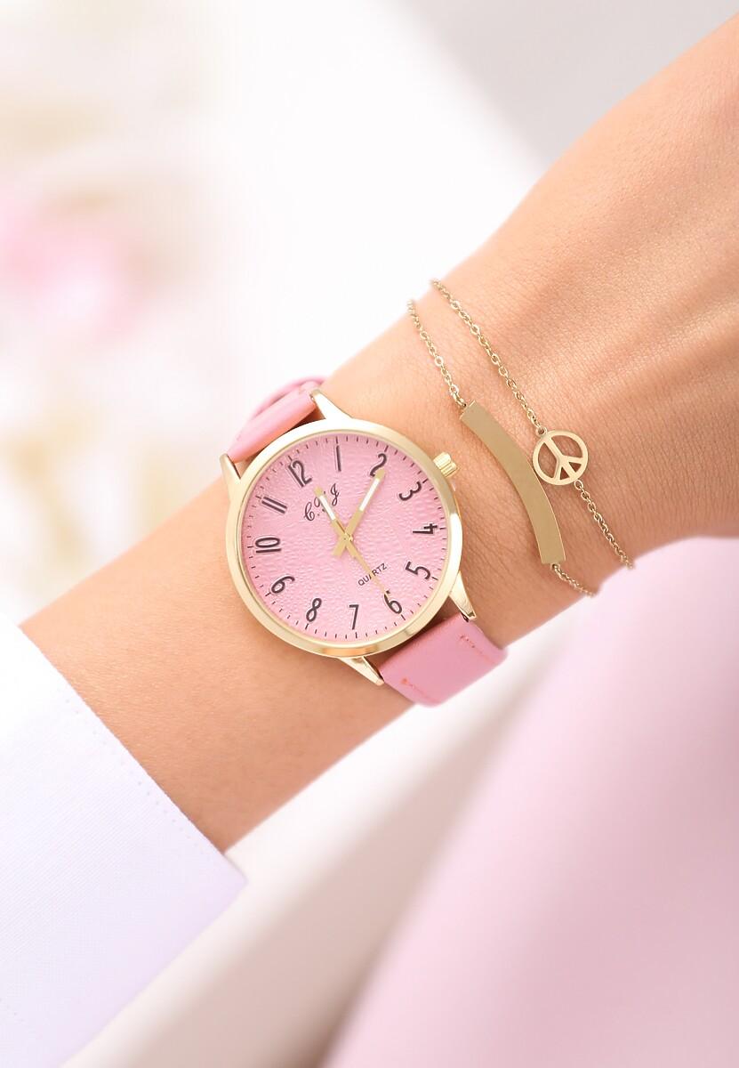 Różowy Zegarek Always On Time