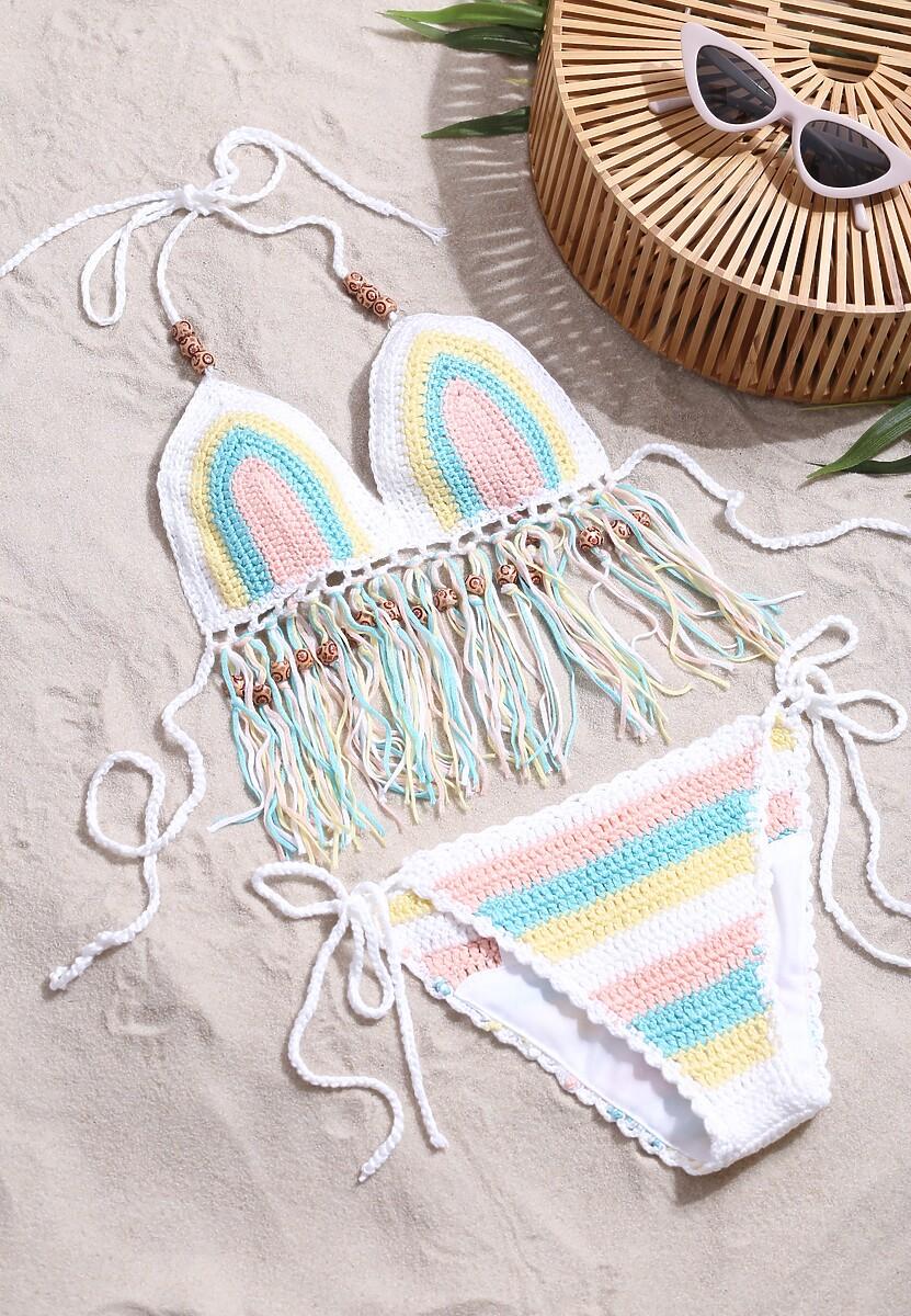 Biało-Niebieski Strój Kąpielowy Hippie's Divine