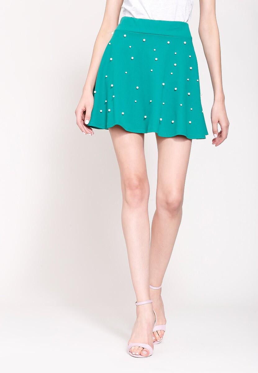 Zielona Spódnica Retro Dots