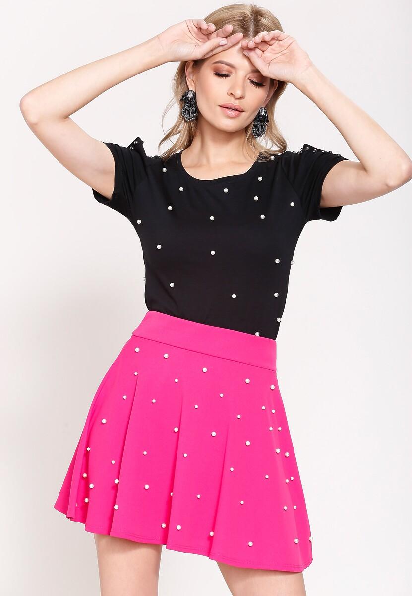 Fuksjowa Spódnica Retro Dots
