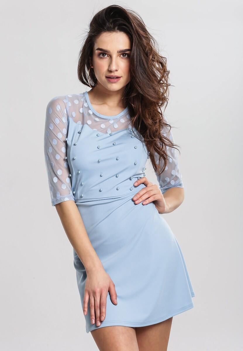 Niebieska Sukienka Lively Dance