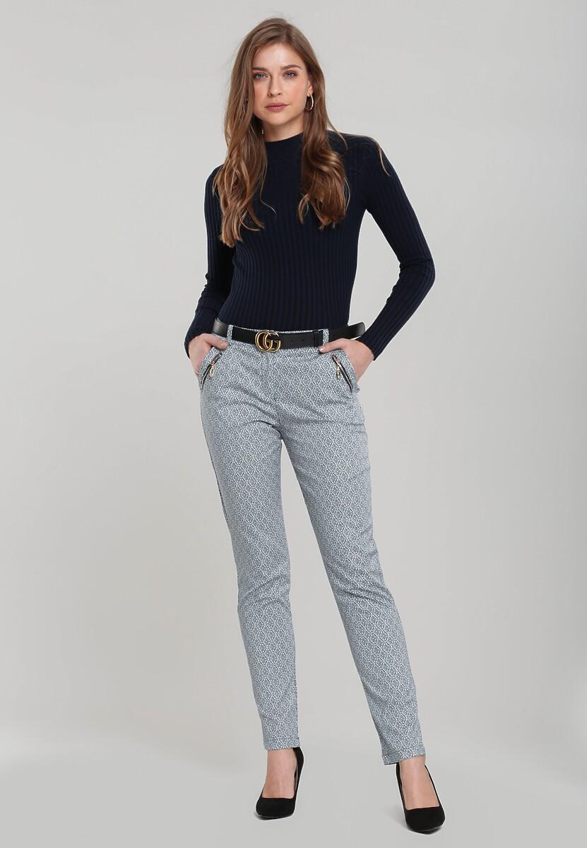 Granatowo-Białe Spodnie Single Kod produktu: 70525
