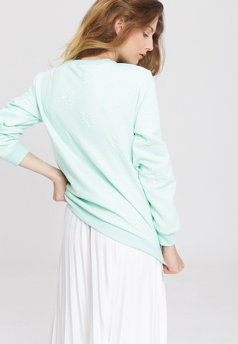 Miętowa Bluza White Pearl