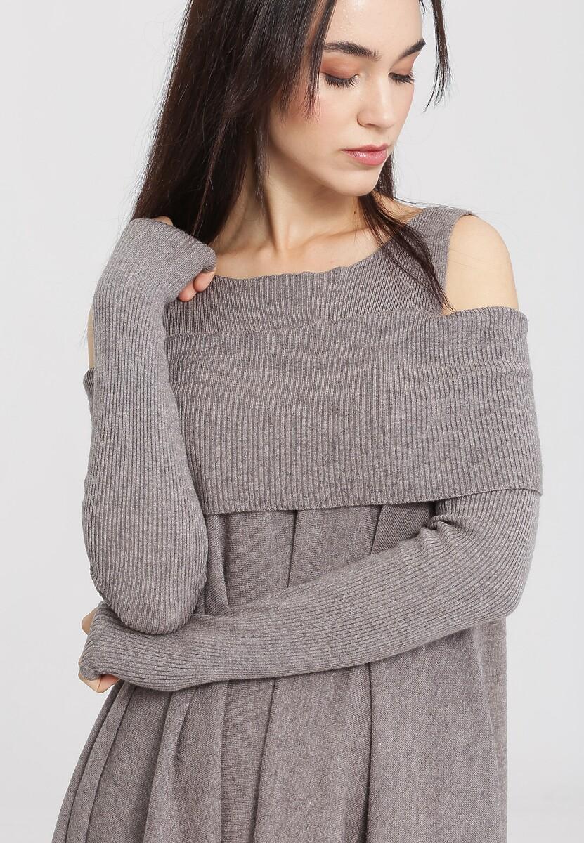 Khaki Sweter Just Feel Me