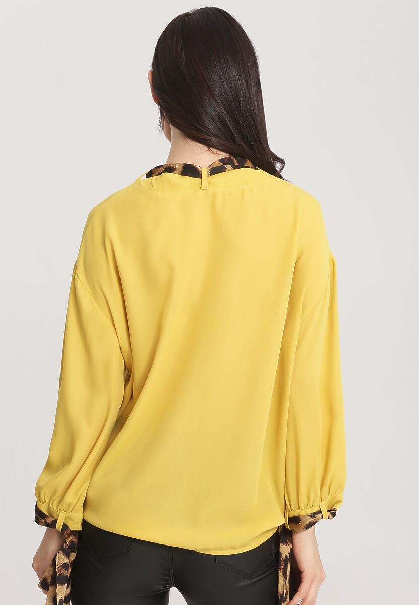Żółta Bluzka Work Hard