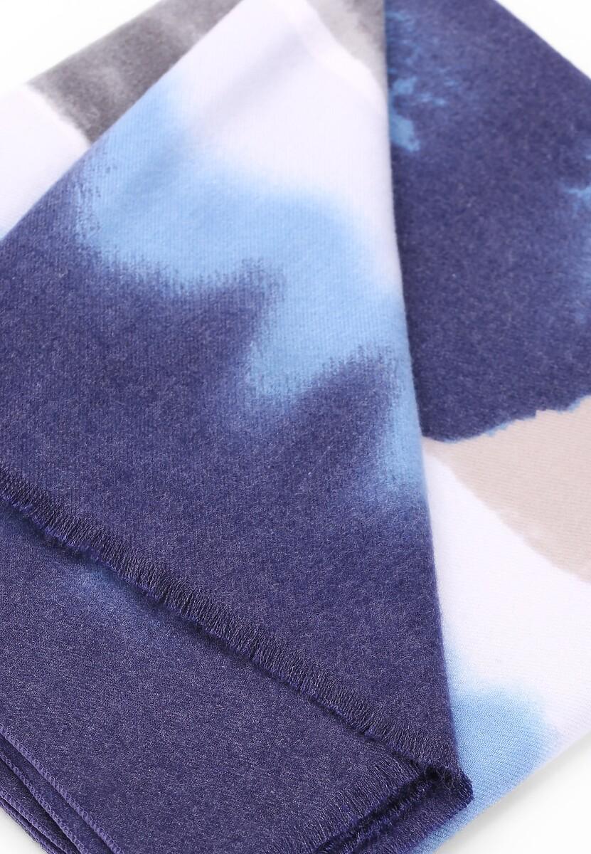 Niebiesko-Szary Szalik Blurred Colors