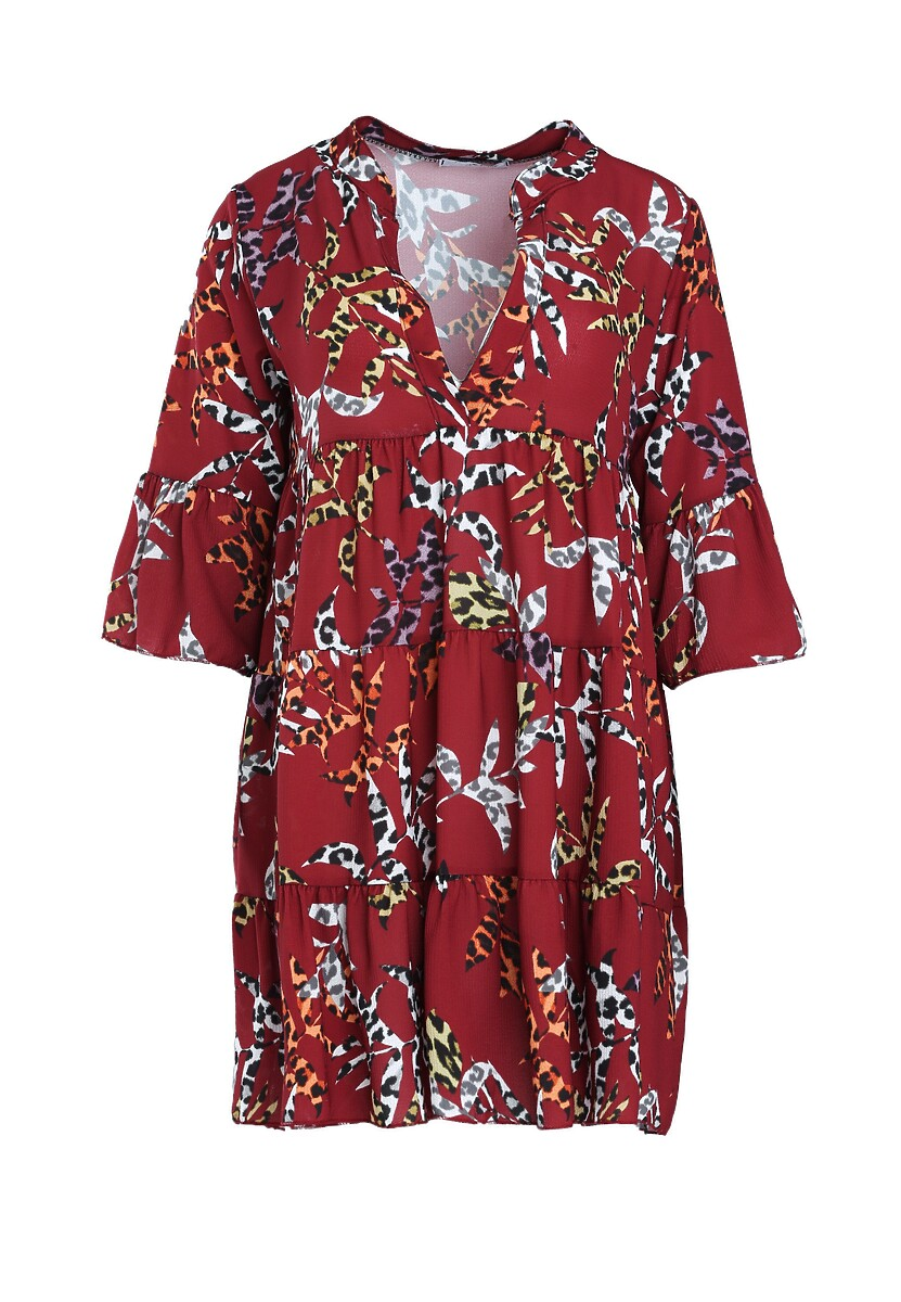 Bordowa Sukienka Sort Of Way