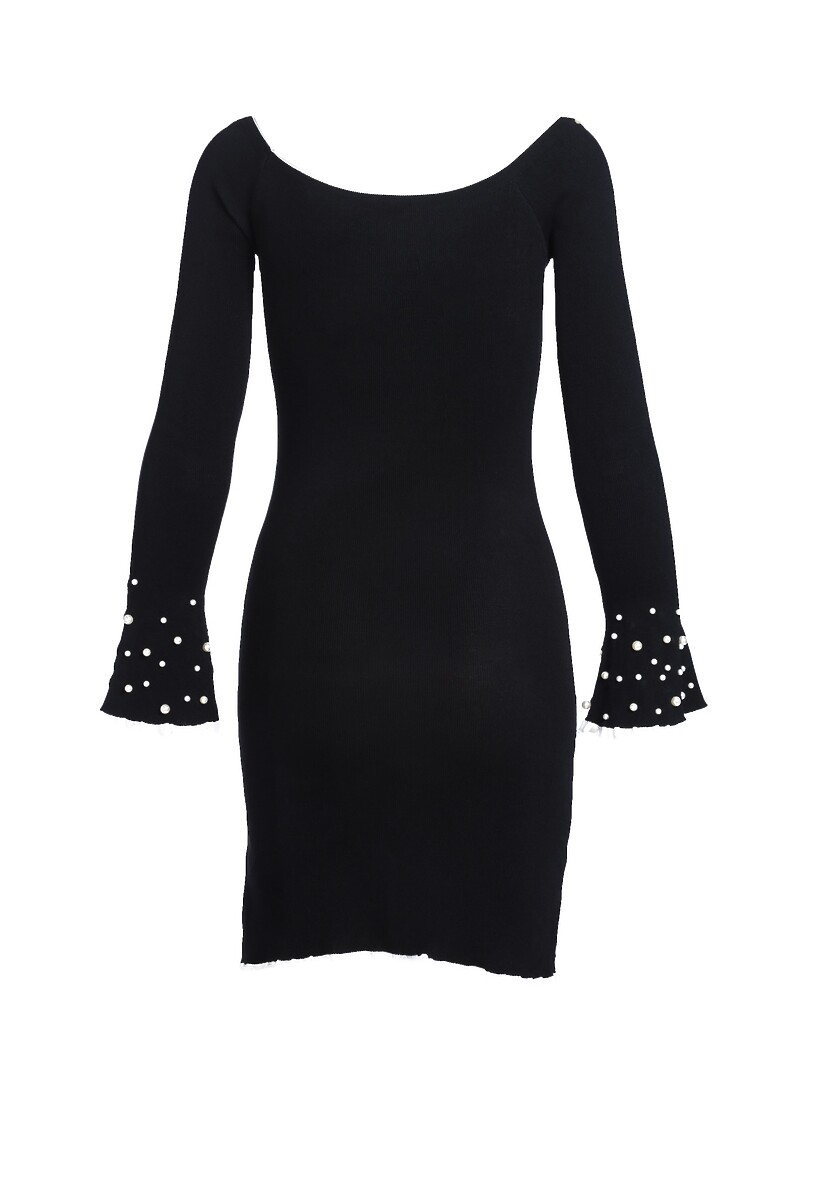 Czarna Sukienka Burgund