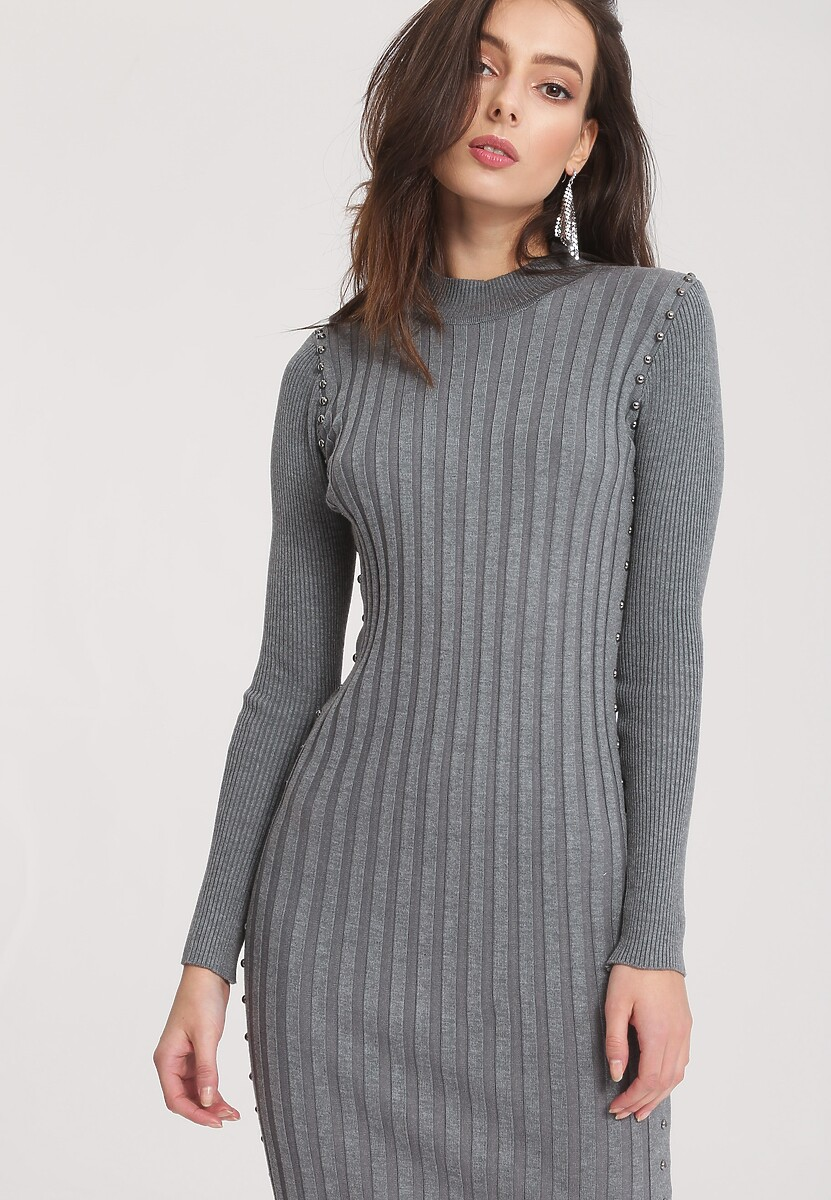Szara Sukienka Powder Grey