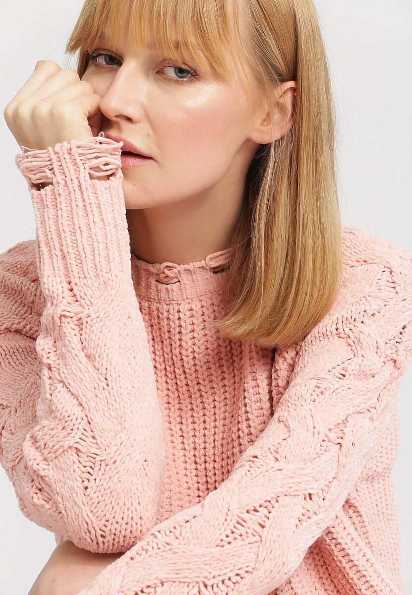 Jasnoróżowy Sweter Manual