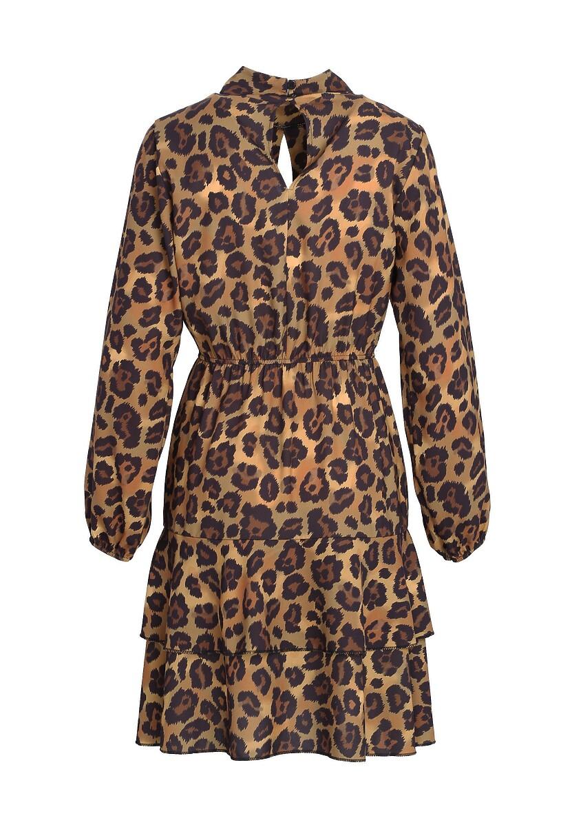 Czarno-Camelowa Sukienka Be Ok