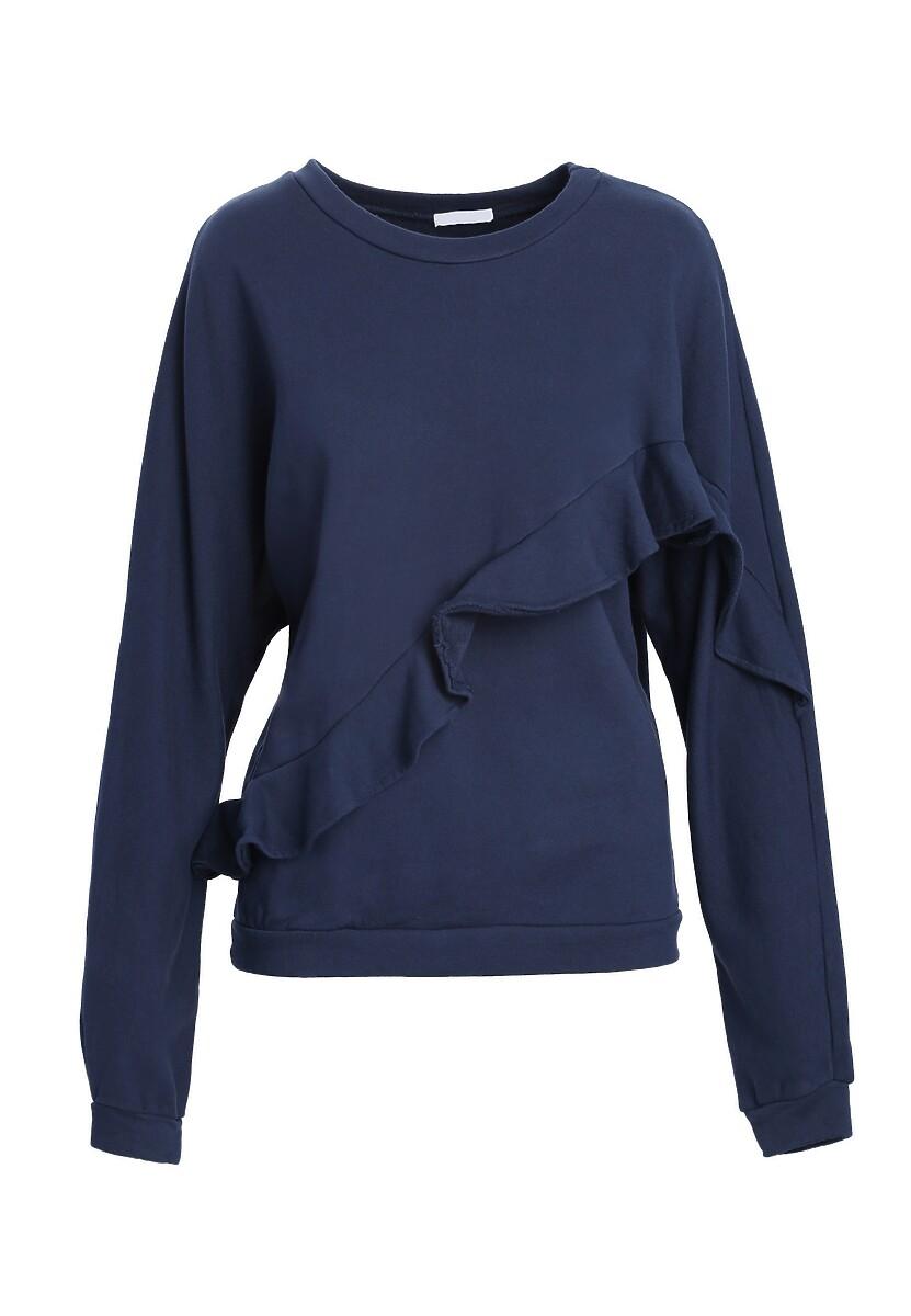 Granatowa Bluza Bluza Flexible