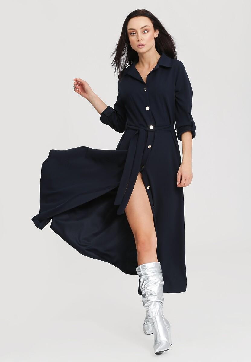 Granatowa Sukienka Determination