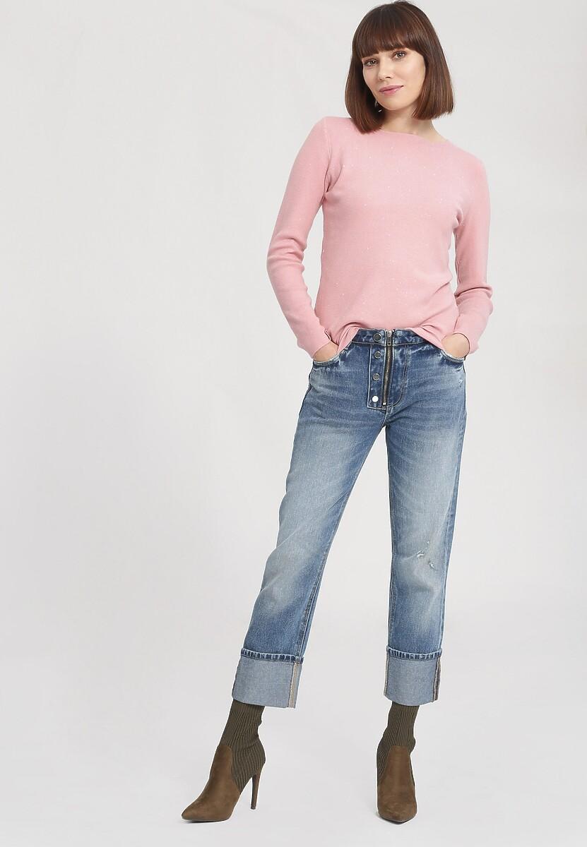 Różowy Sweter Gind