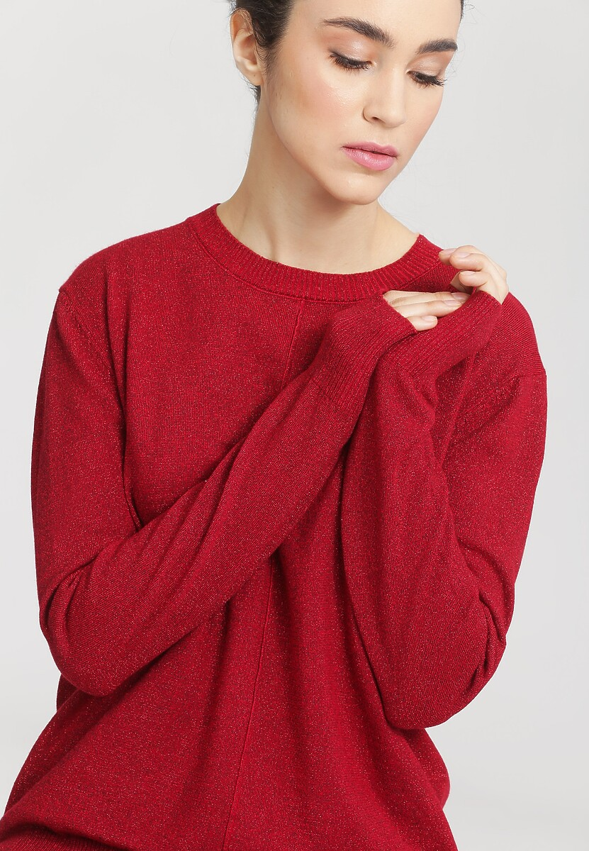 Czerwony Sweter Cosmos