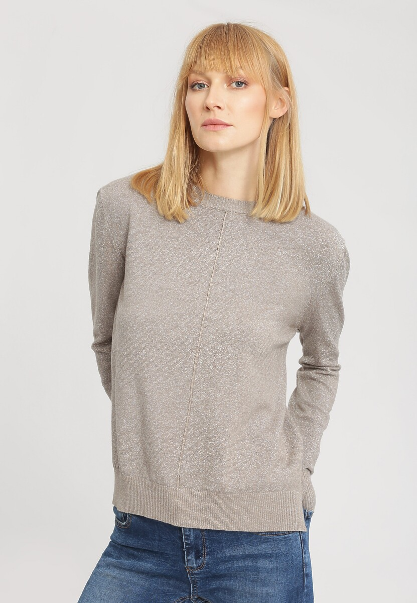 Beżowy Sweter Cosmos