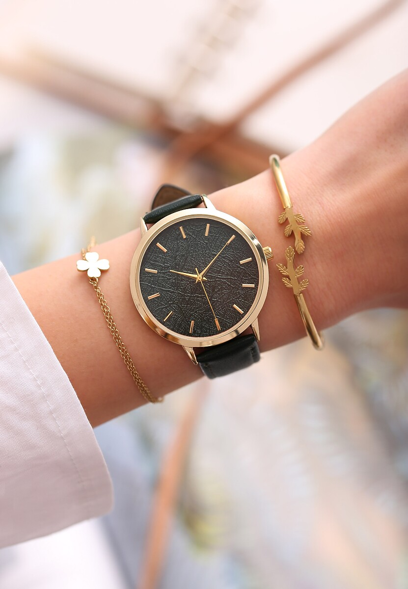 Ciemnozielony Zegarek Preprint