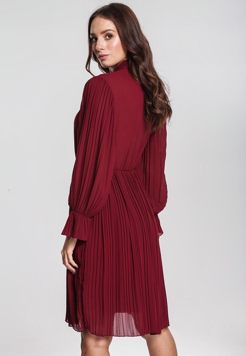 Bordowa Sukienka Bottom Line