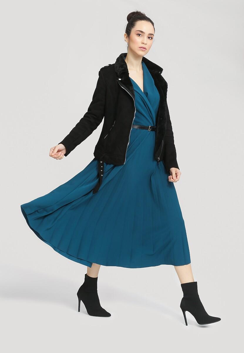 Ciemnoniebieska Sukienka Overtones