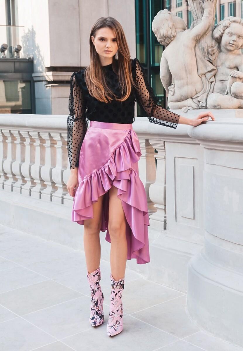 Różowa Spódnica Lilou - Limited Edition