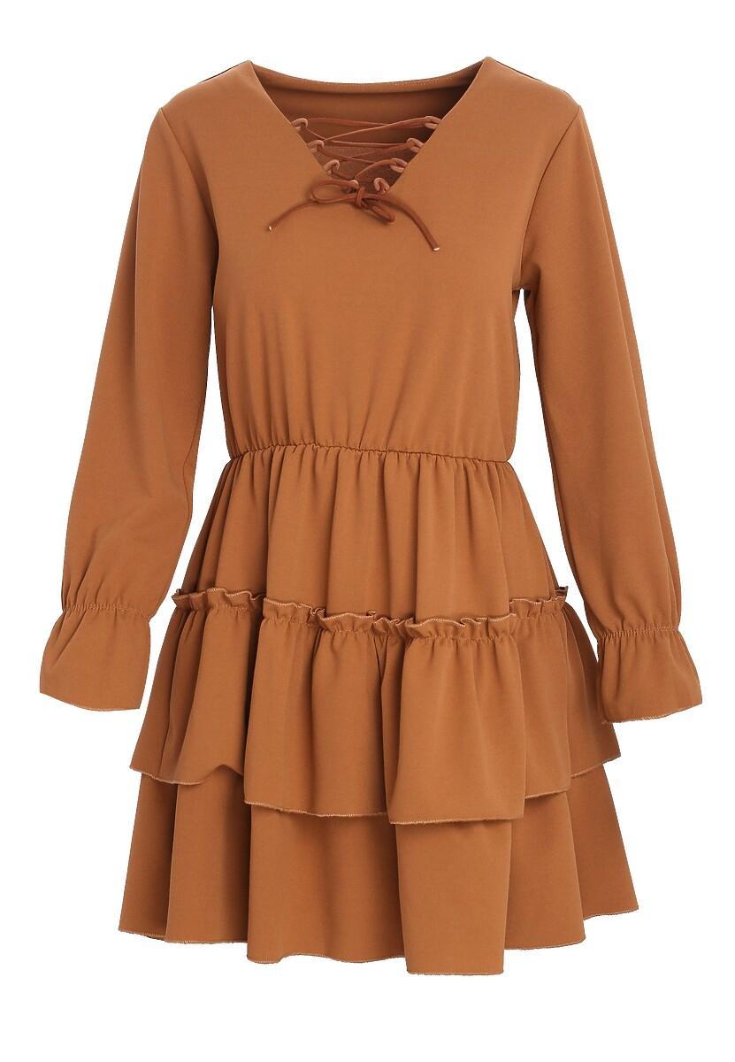Brązowa Sukienka Loner