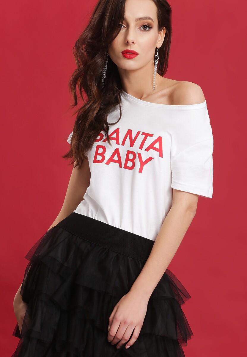 Biała Bluzka Santa Baby