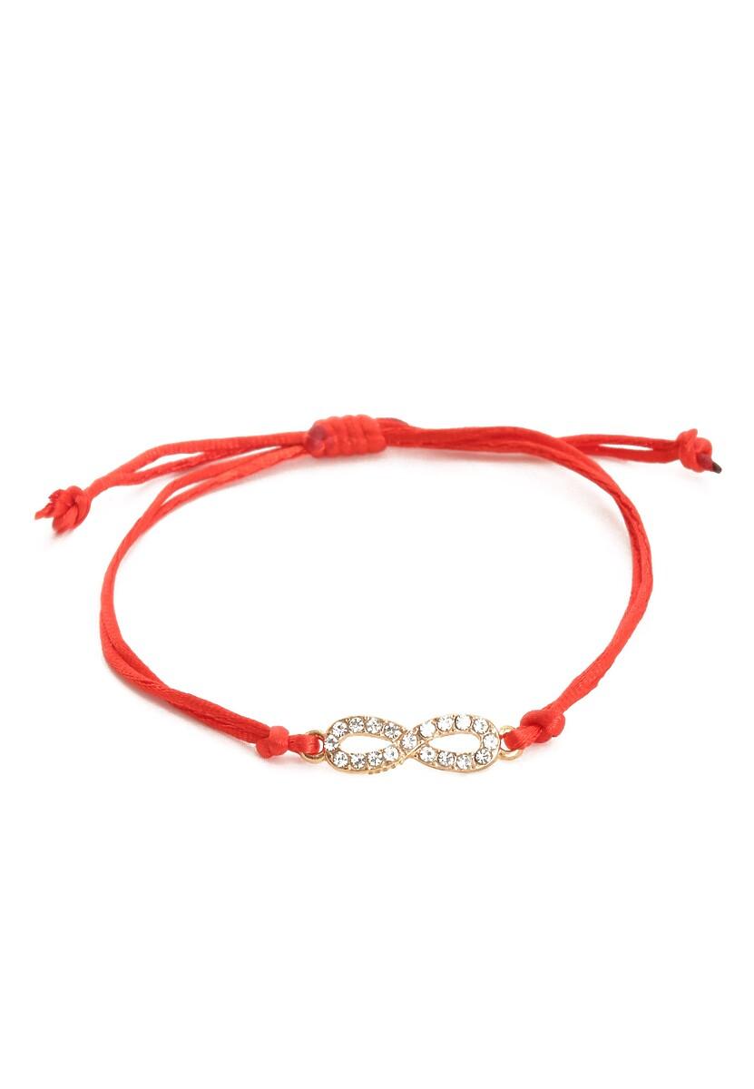 Czerwona Bransoletka Infinity