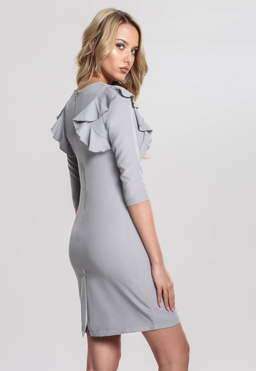 Jasnoszara Sukienka More Valuable