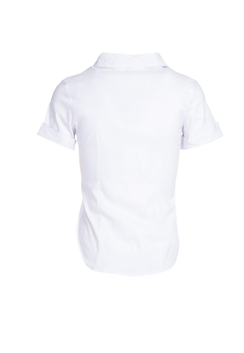 Biała Koszula Plunge Into